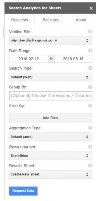 Search Analytics for Sheetsの使い方